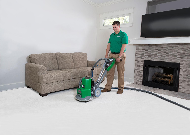 carpet cleaner at work